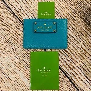 Kate Spade Card Holder- Turquoise Blue